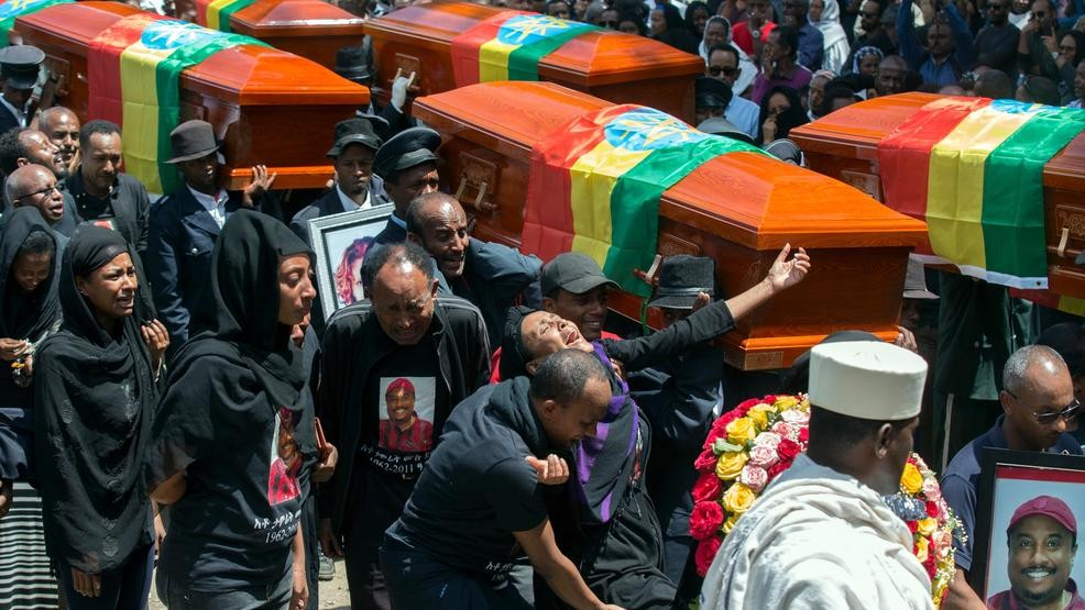 Ethiopians hold mass funeral ceremony for crash victims | WICS