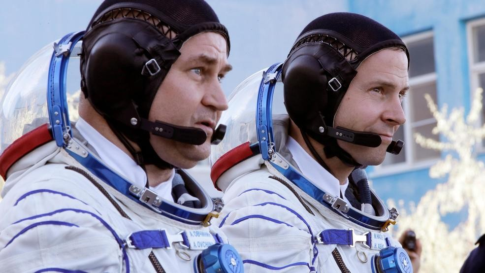 Astronauts make emergency landing after launch failure on mission to