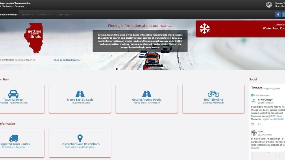 IDOT redesigns website updating winter road conditions | WICS
