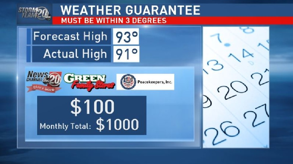 WEATHER GUARANTEE 6/14/16 | WICS