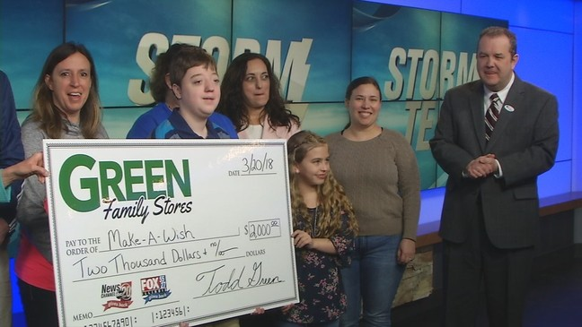 Green Family Stores >> Make A Wish Receives 2k From Green Family Stores Storm Team 20 Wics